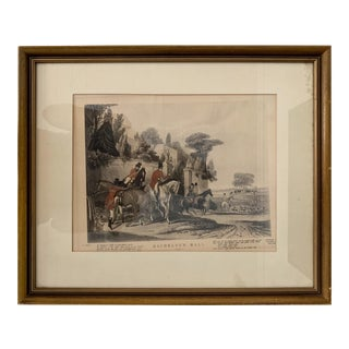 Antique Bachelor's Hall Plate 1 Lithograph Print For Sale