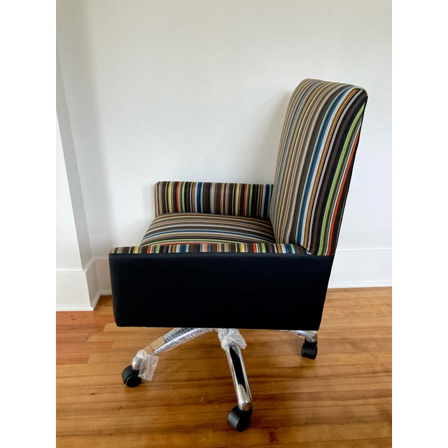 Contemporary J L F Collections Rolling Desk Chair For Sale - Image 3 of 12