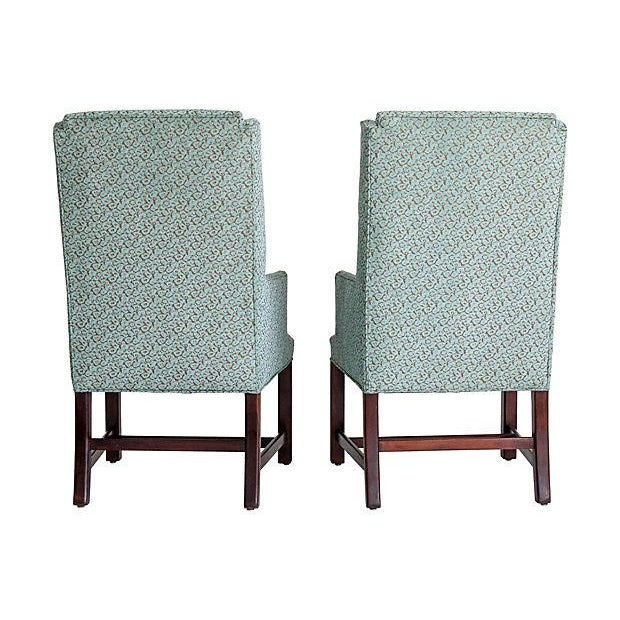 White Furniture Wingback Chairs - A Pair - Image 4 of 8