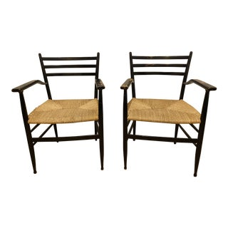 1960s Italian Arm Chairs After Gio Ponti - a Pair For Sale