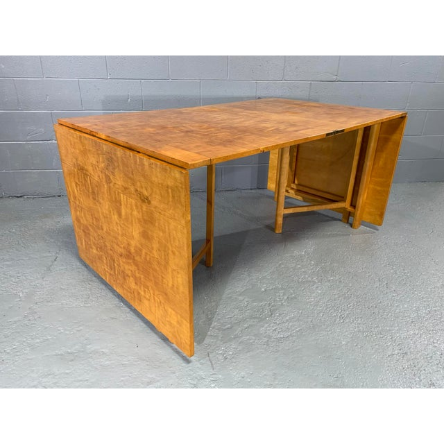 Flamed Birch Maria Folding Dining Table by Bruno Mathsson for Karl Mathsson For Sale - Image 11 of 13