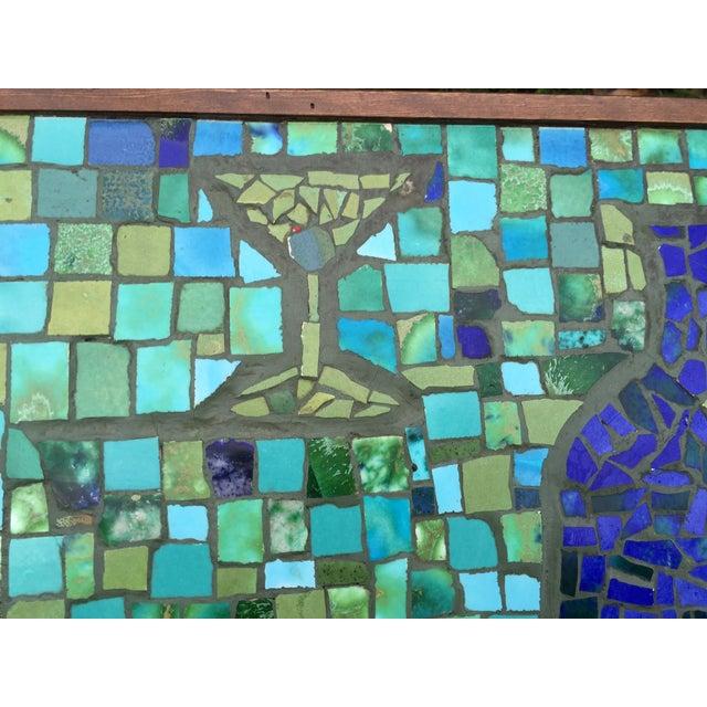 Mid Century Bohemian Tile Art Mosaic Coffee Table | Chairish
