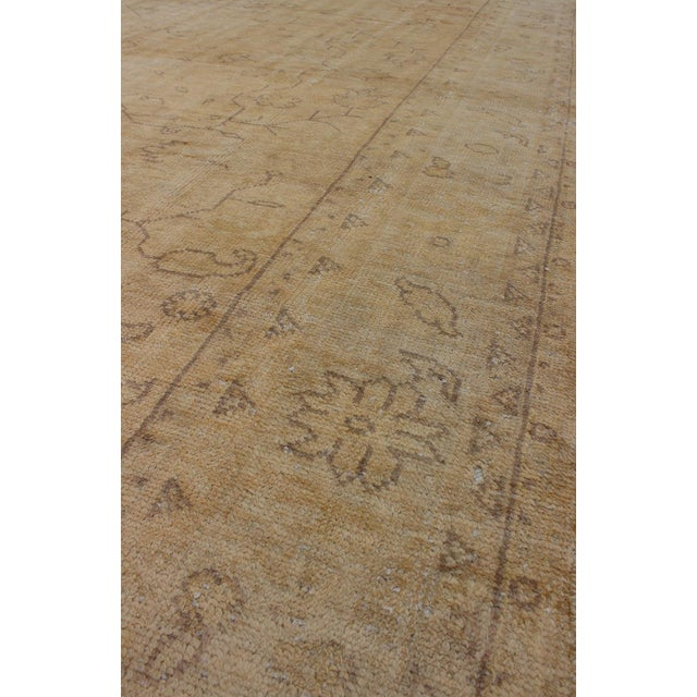 Early 20th Century Antique Turkish Oushak Rug - 9′5″ × 12′10″ For Sale In Atlanta - Image 6 of 9