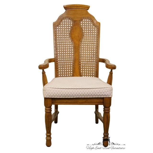 Late 20th Century Henry Link Dixie Contemporary Style Cane Back Dining Arm Chairs - a Pair For Sale - Image 5 of 13