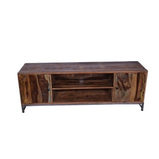 Reclaimed Wood Two Door Tv Sideboard, Media Cabinet, Entertainment Unit, Storage Organizer, Living Room, Rustic Look- Natural For Sale