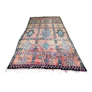 1980s Vintage Moroccan Beni M'Guild Rug - 5′6″ × 11′6″ For Sale