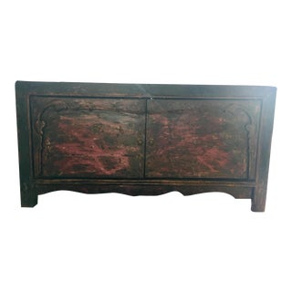 Antique Mongolian Wooden Sideboard