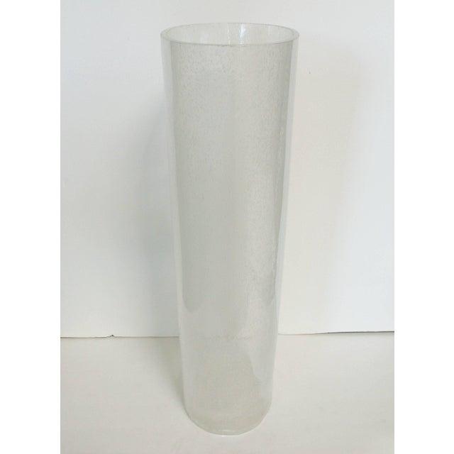 Italian Oversized Italian Clear Bollicine Murano Glass Vases For Sale - Image 3 of 7