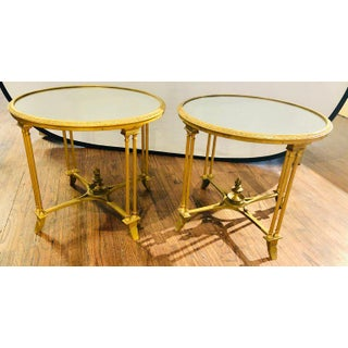Pair of Bagues Style Gilt Bronze Neoclassical End Tables or Pedestals Preview