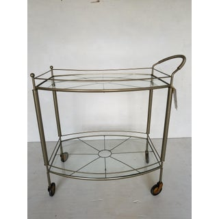 Vintage 2-Tier Glass Bar Cart Preview