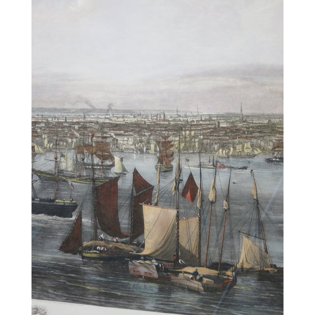 American New York Harbor Print by Jw Hill For Sale - Image 3 of 8