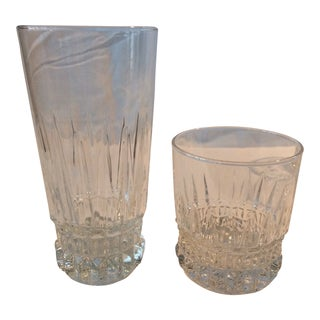 6 Crystal Tumblers and 6 Crystal Low Ball Glasses - Set of 12 For Sale