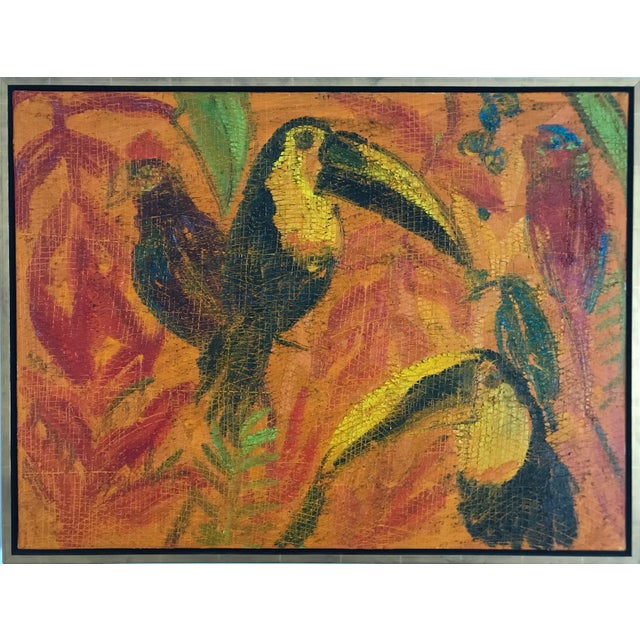 Painting of Toucans by Hunt Slonem For Sale - Image 6 of 6