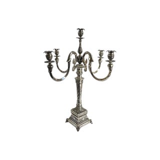 Vintage French Silver-Plate Candelabrum For Sale