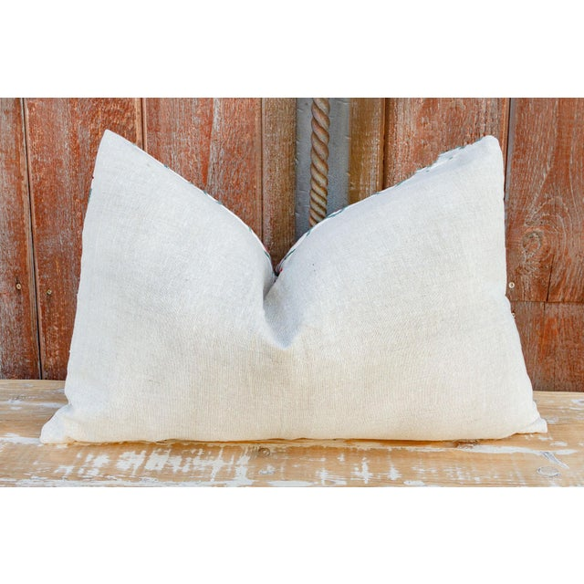 White Nalin Coral Floral Suzani Pillow For Sale - Image 8 of 10