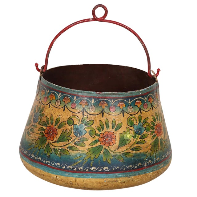 Vintage Metal Planter Bucket - Image 1 of 3