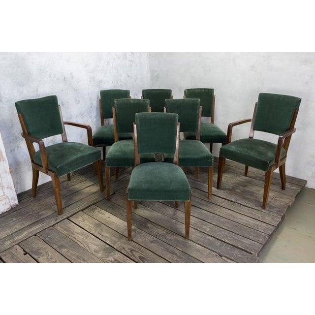Set of Eight Dining Chairs, French, 1930s - Image 2 of 11