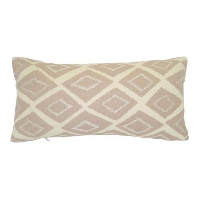 Mid-Century Geometric Pink Lumbar Pillow - Image 1 of 4