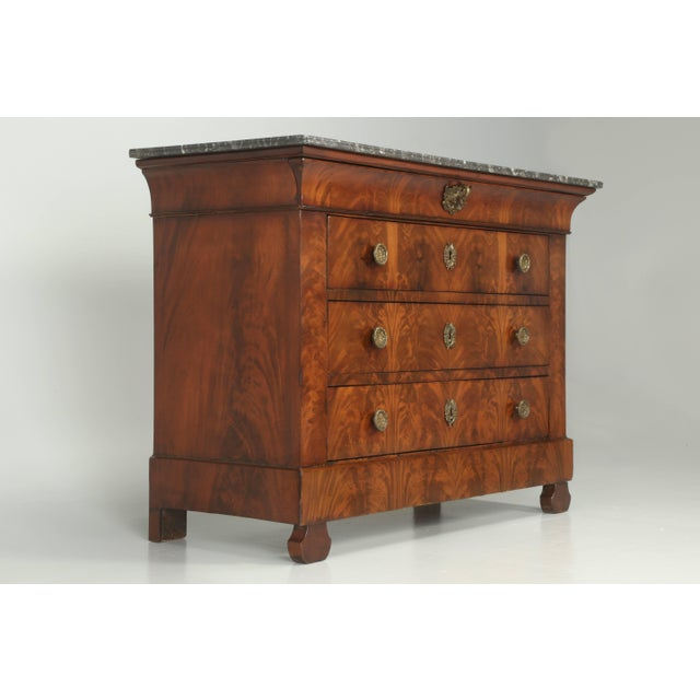 Antique French Commode in Mahogany With Exquisite Hardware For Sale - Image 10 of 10