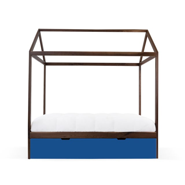 The Domo Zen Twin Canopy Bed with Trundle. Custom craftsmanship designed to last for generations and grow with your...