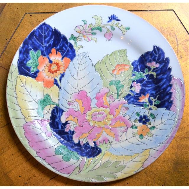 Tobacco Leaf Porcelain Display Platter For Sale - Image 4 of 6