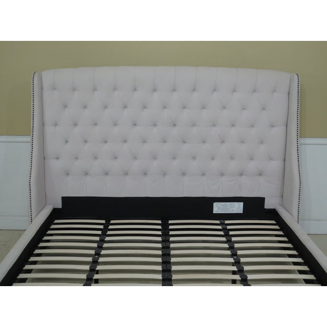 King Size Upholstered Bed Chairish