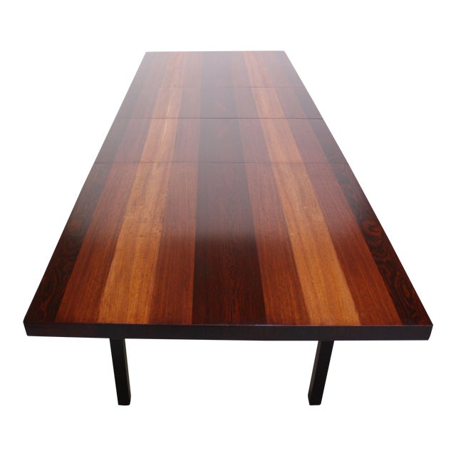 Milo Baughman Mixed Wood Dining Table For Directional - Image 1 of 11