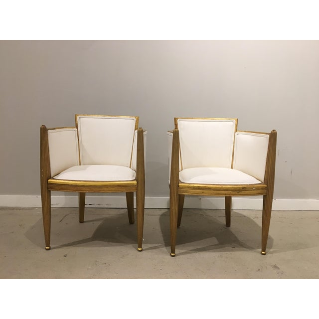Pair of Art Deco Guilted Chairs by Paul Follot.