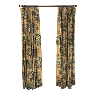 "Custom Lee Jofa ""Chinese Lantern"" Curtains in Yellow - a Pair"
