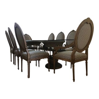 Traditional Drexel Heritage Corbel Collection Dining Set - 9 Pieces For Sale