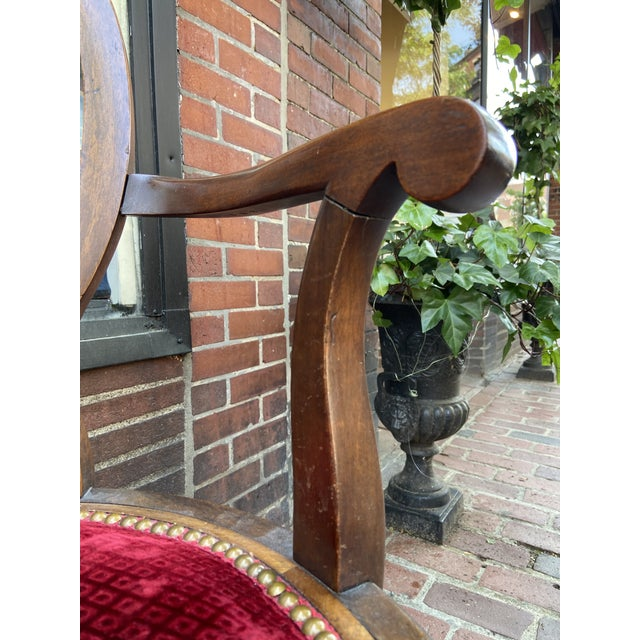 Late 18th Century French Directoire Swivel Desk Chair For Sale In Boston - Image 6 of 8