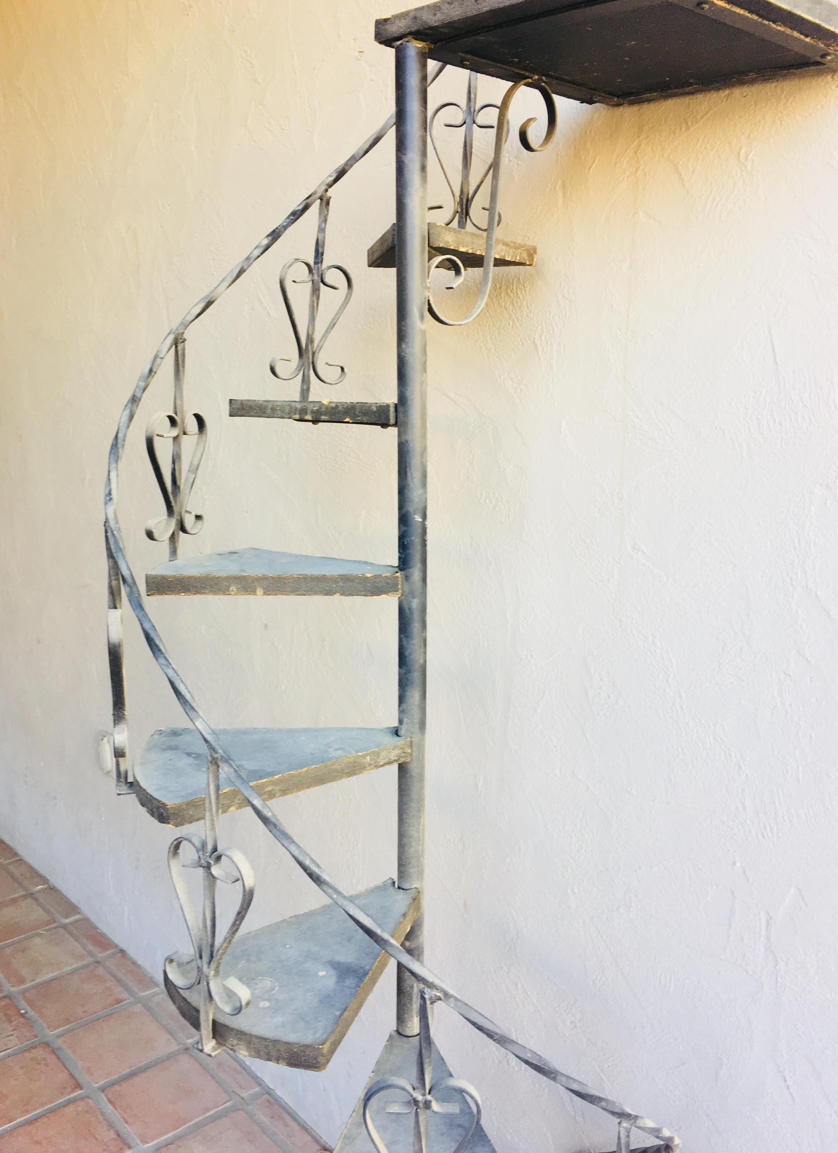 Exceptional Spectacular Vintage Iron Spiral Staircase Plant Stand Garden Decor. Imagine  This Decorated With Glowing Lights