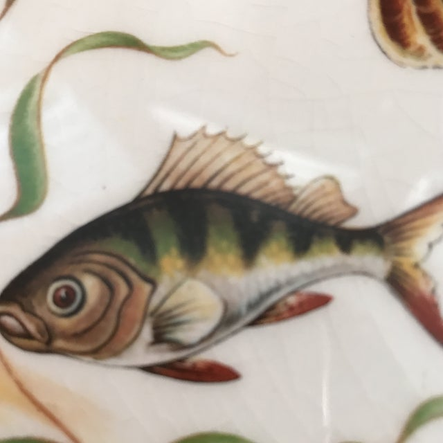 1970s Vintage Johnson Brothers Ironstone Fish/ Stugeon Platter For Sale - Image 9 of 12