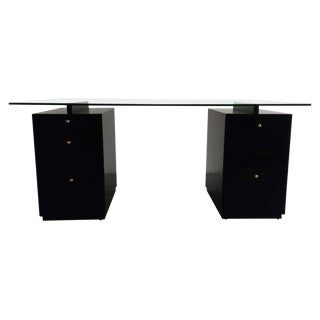 Ebonized Desk in the Manner of Edward Wormley For Sale