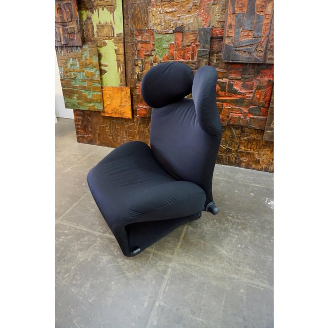 "Fabric Toshiyuki Kita ""Wink"" Convertible Lounge Chair 1980's For Sale - Image 7 of 9"