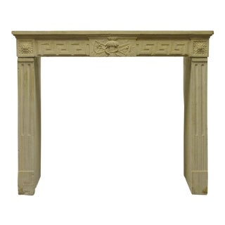 A Small French Louis XVI Fireplace Mantel in Limestone