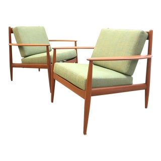 Grete Jalk for France & Son Mid-Century Teak Chairs - a Pair