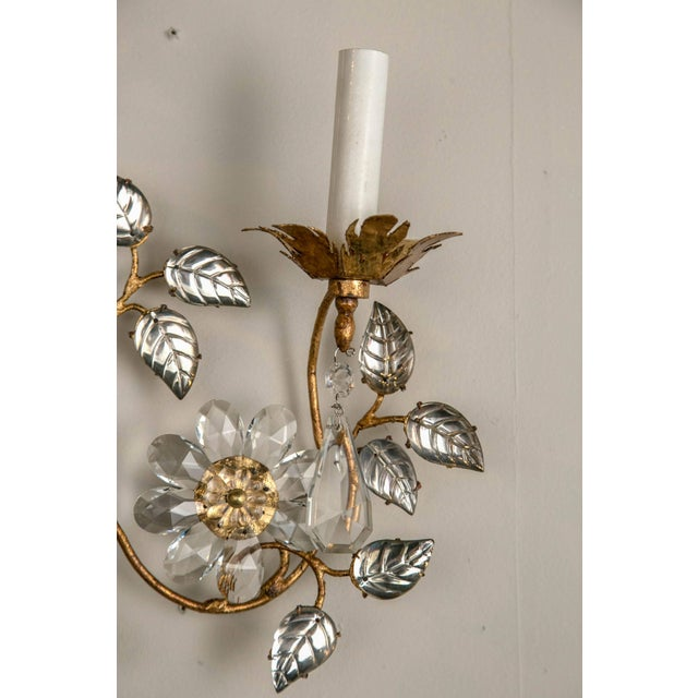 French Three-Light Bronze Sconces - a Pair For Sale In New York - Image 6 of 8