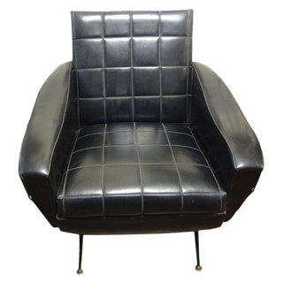 Italian Sculptural Lounge Chair in the Manner of Marco Zanuso For Sale