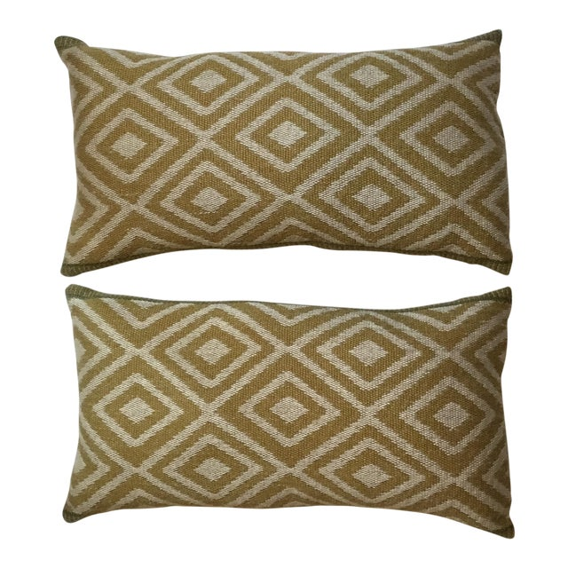Vintage Geomtic Motif Pillows - A Pair - Image 1 of 9