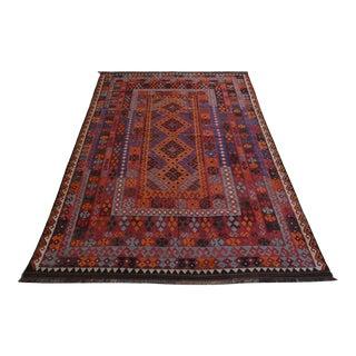 Vintage Afghan Maimana Kilim Rug For Sale