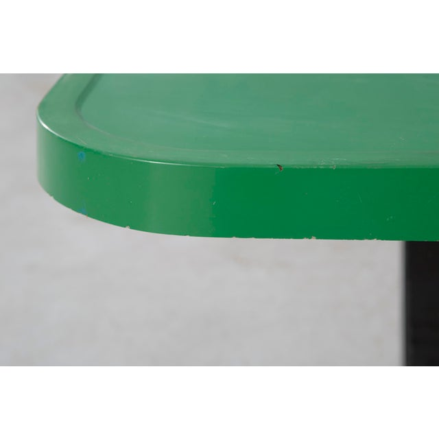 Mid-Century Modern Les Arcs Enameled Green Table by Charlotte Perriand For Sale - Image 3 of 9