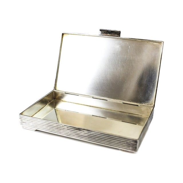 Georg Jensen 1950 Vintage Georg Jensen Sterling Silver Modernist Keepsake Box No. 712 by Sigvard Bernadotte For Sale - Image 4 of 4