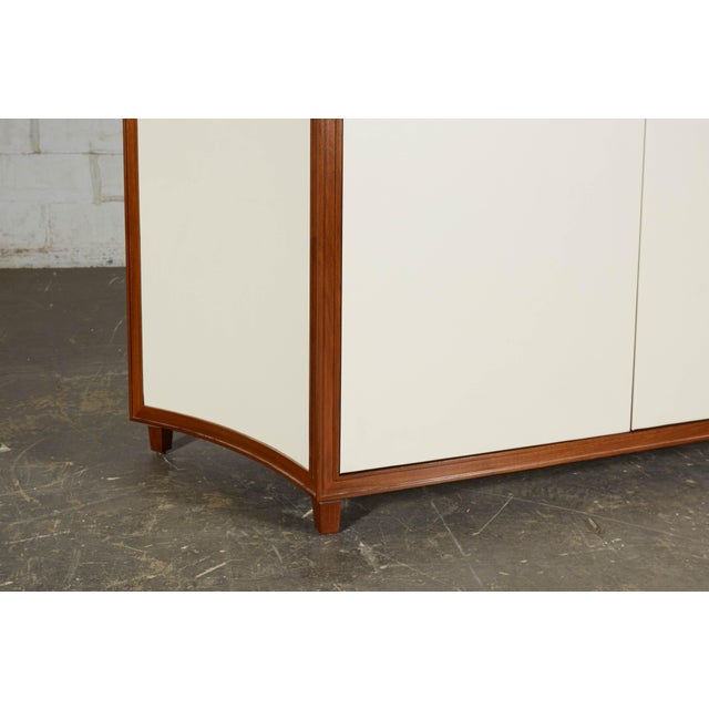 Neoclassical Mahogany and Faux Parchment Media Cabinet For Sale - Image 11 of 13
