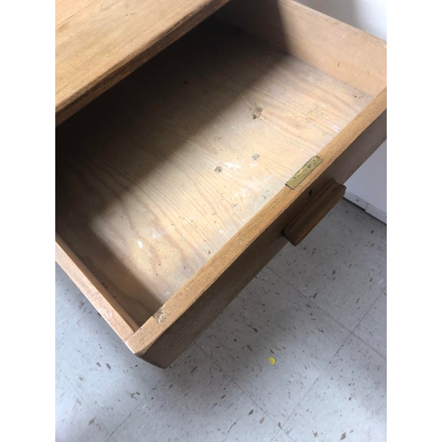 Early 20th Century Antique Country Farm Table / Desk With Two Drawers For Sale - Image 5 of 13