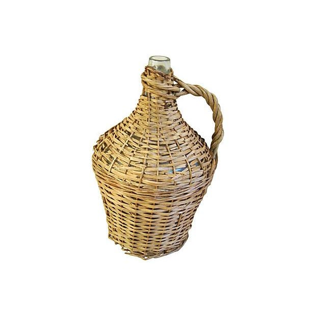 French Wicker Demijohn Bottle - Image 3 of 5