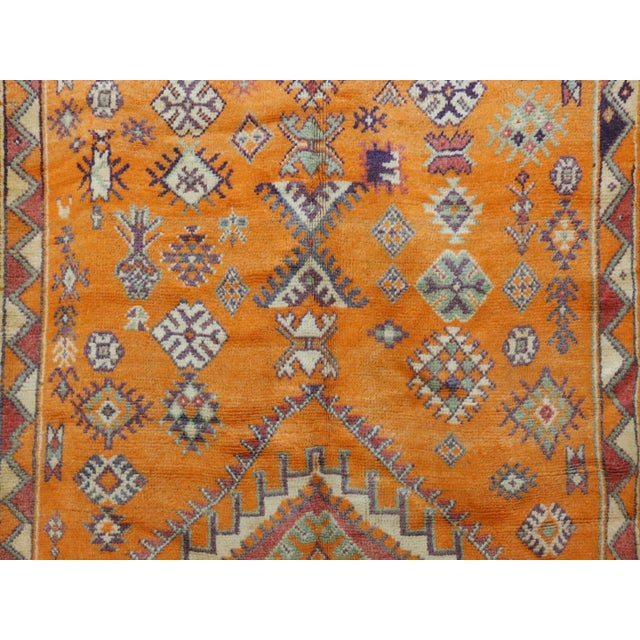 """Taznakht Vintage Moroccan Rug, 4'11"""" X 11'11"""" Feet For Sale - Image 4 of 6"""