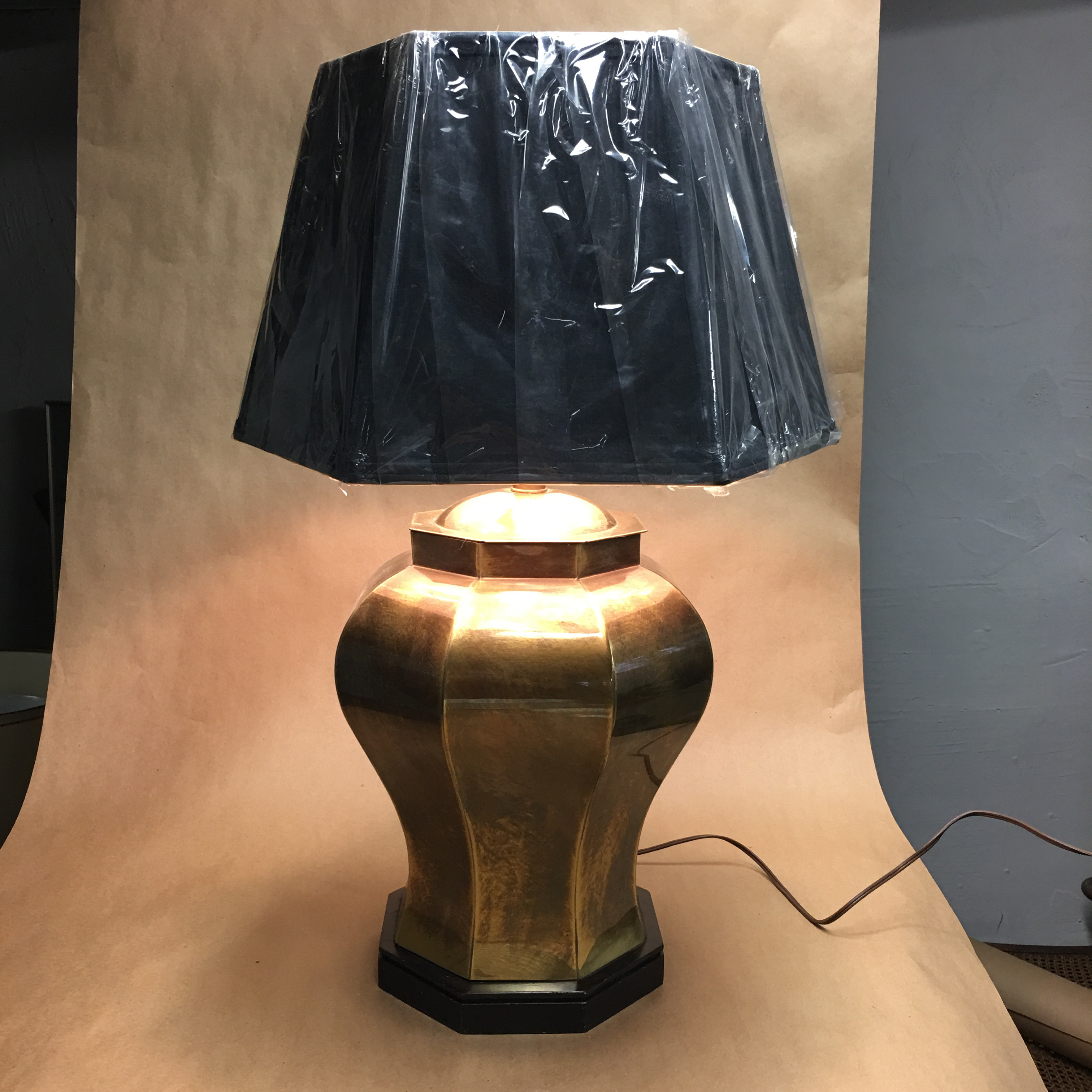 Large Brass Frederick Cooper Ginger Jar Table Lamp Chairish