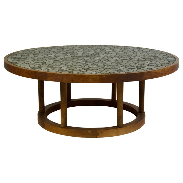 Ceramic Tile-Top Coffee Table by Gordon and Jane Martz For Sale