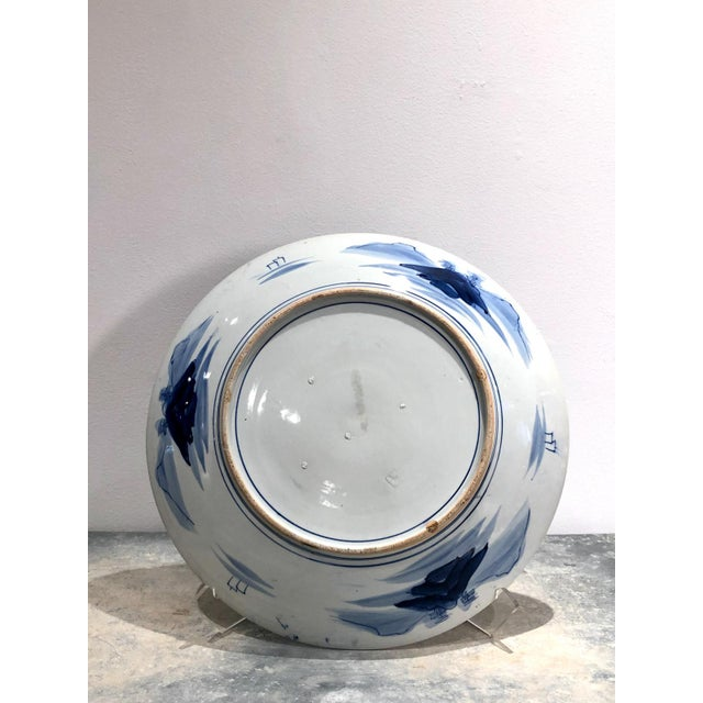 Asian Large Imari Blue and White Charger, Japan 19th Century For Sale - Image 3 of 6